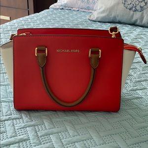 Michael Kors medium color block satchel